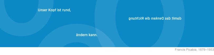 """Grafik-Banner in Blau"""