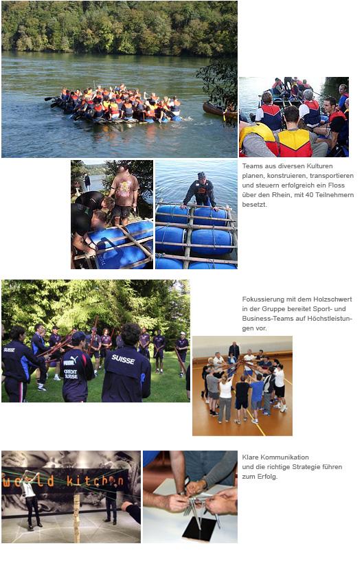 """""""Fotos zeigen Teambuildingaktionen im Outdoorbereich"""""""